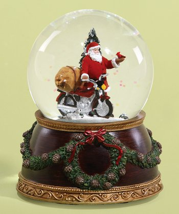 Santa & Motorcycle Music Globe