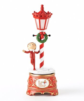 Elf on the Shelf Musical Lamp Post Figurine