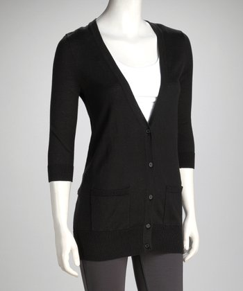 Black Boyfriend Cardigan