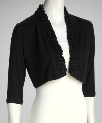 Black Braid Trim Bolero - Women