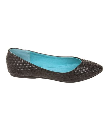 Black Madrid Dame Flat