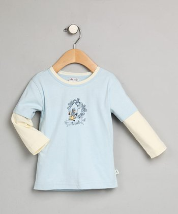Blue & Cream Layered Long-Sleeve Tee - Infant & Toddler