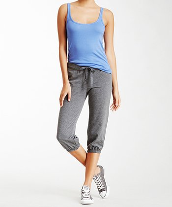 Gray French Terry Capri Sweatpants