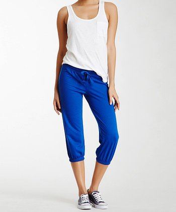Blue French Terry Capri Sweatpants