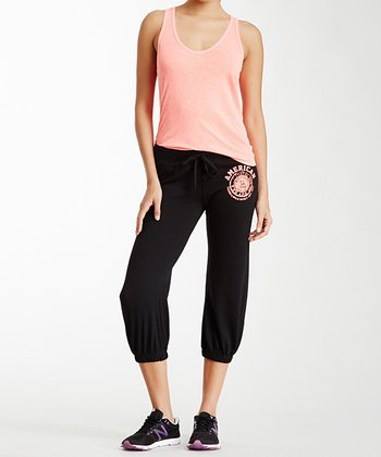 Black & Pink 'American' Lounge Capri Pants