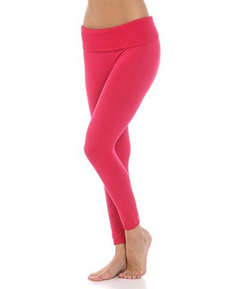 Fuchsia Fleece Leggings