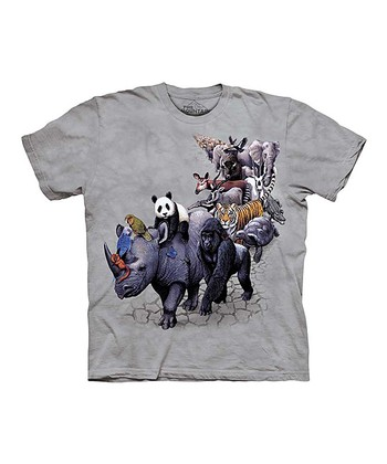 Gray Animal Parade Tee - Toddler & Kids