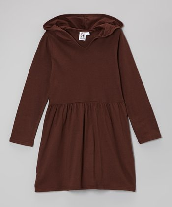 Brown Hooded Dress - Toddler & Girls