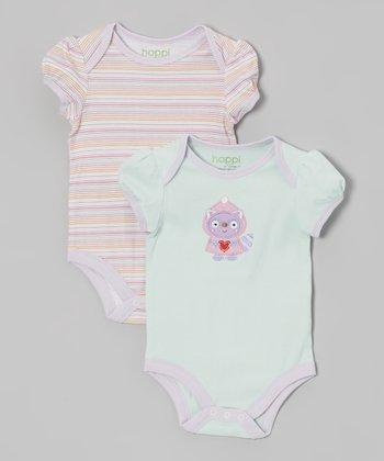 Winter Mint Raccoon Bodysuit Set - Infant