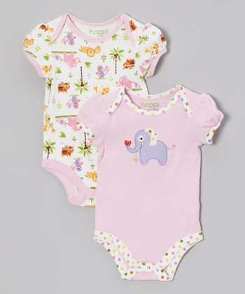 Pink Jungle Friends Bodysuit Set - Infant