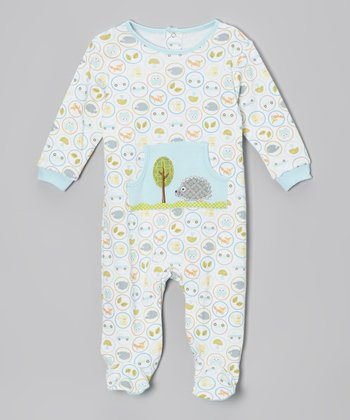 Blue Winter Owl Footie - Infant