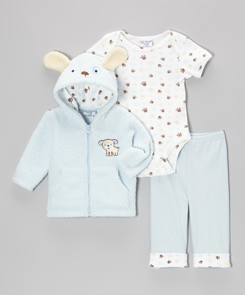 Blue Puppy Jacket Set - Infant