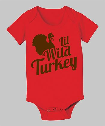 Red 'Lil Wild Turkey' Bodysuit - Infant