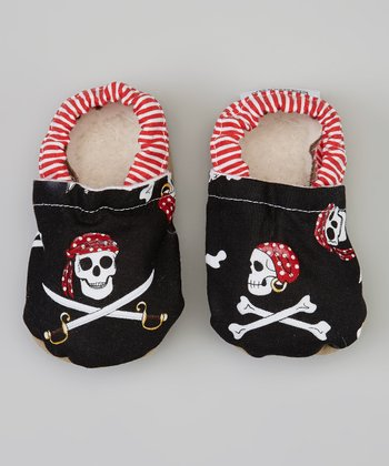 Red & Black Pirate Bootie