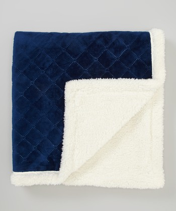 Navy Fleece Stroller Blanket