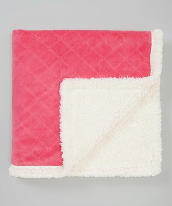 Hot Pink Fleece Stroller Blanket