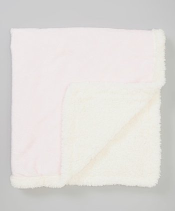 Pink Fleece Stroller Blanket