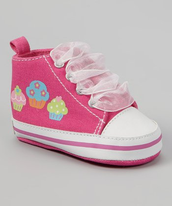 Hot Pink & White Cupcake Hi-Top Sneaker