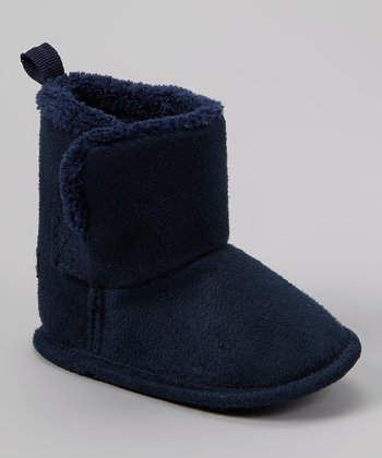Navy Faux Fur Boot