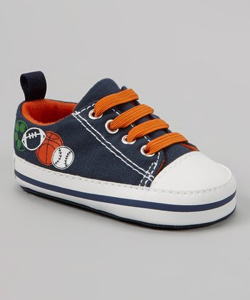 Navy & Orange Sport Sneaker