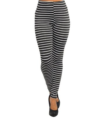 Black Bold Stripe Leggings