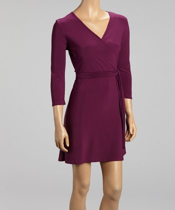 Plum Surplice Dress