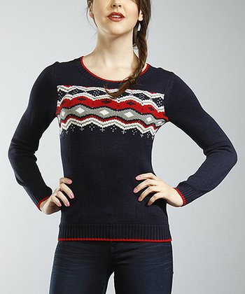 Gray Tribal Jacquard Sweater