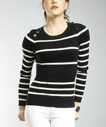 Black & White Stripe Sweater