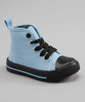 Light Blue & Black Hi-Top Sneaker