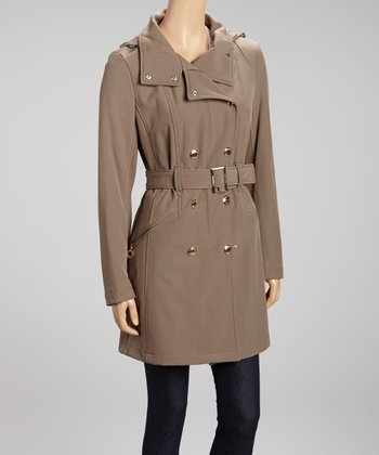 Truffle Hooded Trench Coat