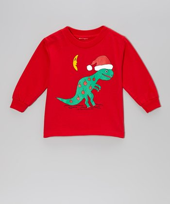 Red 'Tree-Annosaurus Rex' Tee - Toddler & Boys