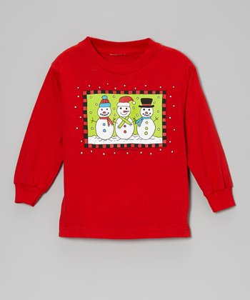 Red 'My Snowmen Friends' Tee - Toddler & Boys