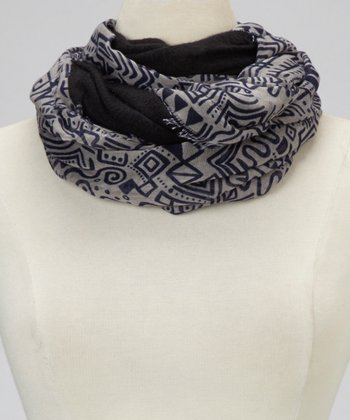 Black Tribal Infinity Scarf