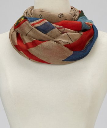 Tan Worldly Scarf