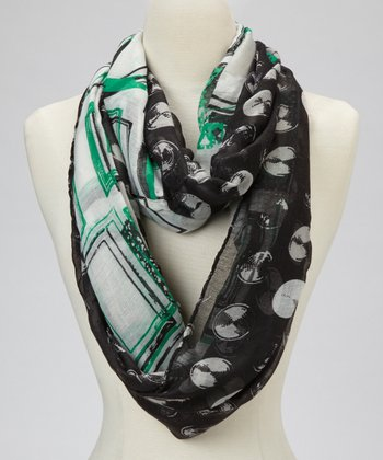 Black Record Scarf