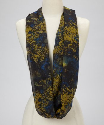 Olive Planet Earth Scarf