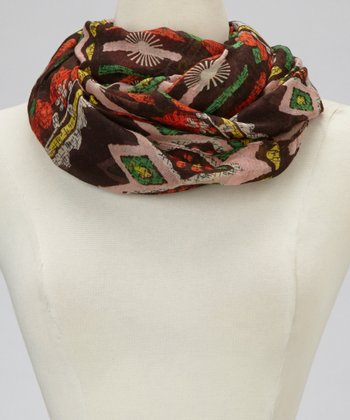 Black Aztec & Diamond Infinity Scarf
