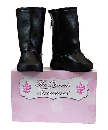 Black Doll Riding Boots