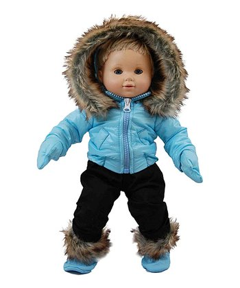 Blue Baby Doll Ski Wear Outfit