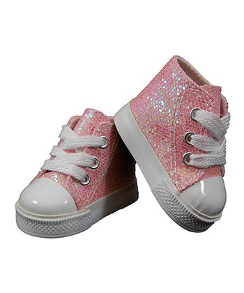 Pink Sparkle Doll High Tops