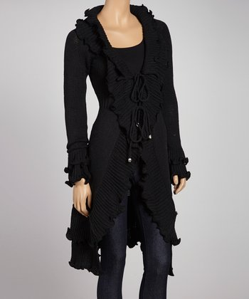 Black Ruffle Duster