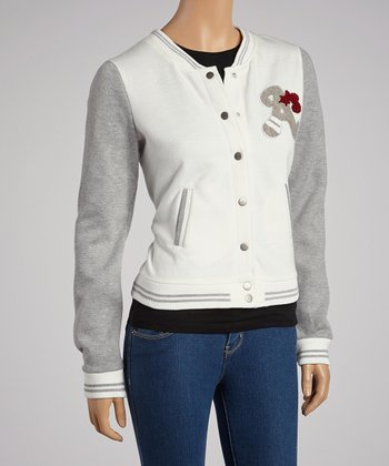 White & Gray Athletic Jacket