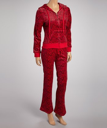 Red Leopard Jacket & Lounge Pants