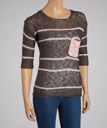 Dark Gray Stripe Sweater