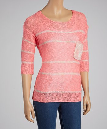 Bright Pink Stripe Sweater