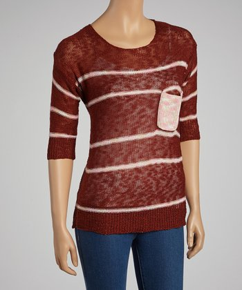 Dark Rust Stripe Sweater