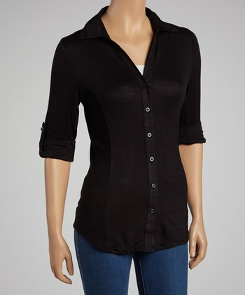 Black Button-Up