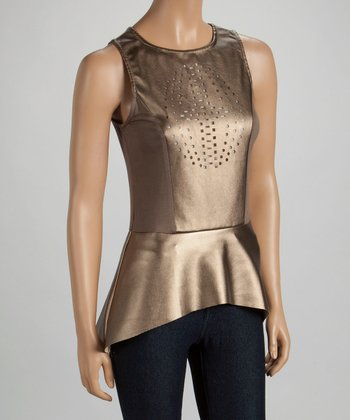 Gold Cutout Tunic