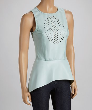Blue Cutout Tunic