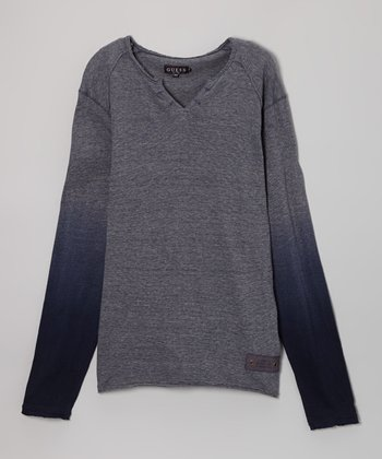 Gray & Blue Dip-Dyed Top - Toddler & Boys